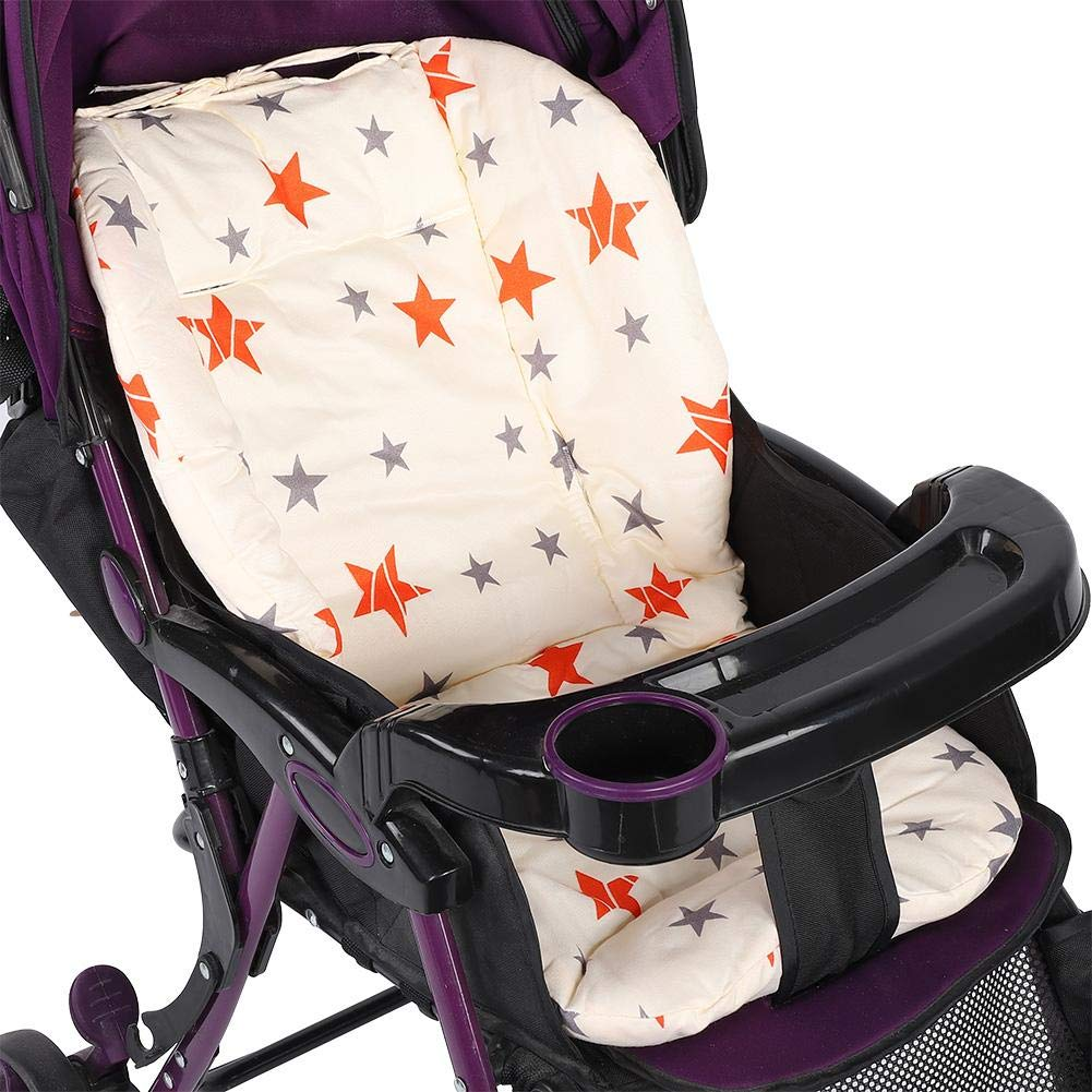 Baby Buggy Kissen mit 2 Streifen Kinderwagen Sitzpolster Rollwagen Zubeh/ör Baumwolle Sitzpolster f/ür Kinderwagen Auto