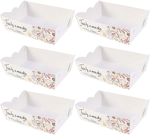 Amosfun 100 piezas Caja de embalaje de alimentos Perritos ...