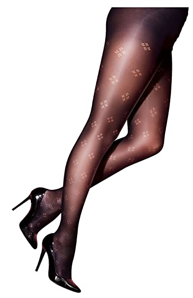 20171197c Pretty Polly Curves Dot Diamond Fashion Tights PMAPN9 Black - 2X ...