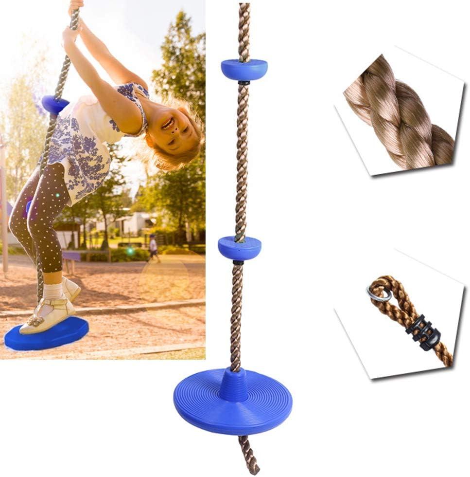 Haplws Altalena per Bambini per Arrampicata allaperto con Piattaforma per Supporto Piedi e Altalena a Disco Set di Scale in Corda per Altalena Bambini