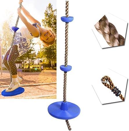 Haplws Columpio de Cuerda para Escalar al Aire Libre para niños con Plataforma de Soporte de pie y Asiento de Columpio de Disco Escalera de Cuerda para Columpio de niños: Amazon.es: Hogar