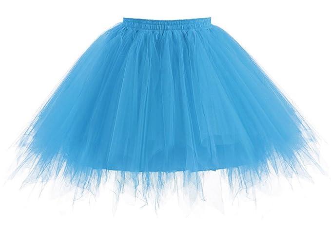 the latest 49c6b 33df1 Comall Damen Kurz Tutu Rock Petticoat Ballettrock Tuturock Unterrock Tüll  Unterkleid