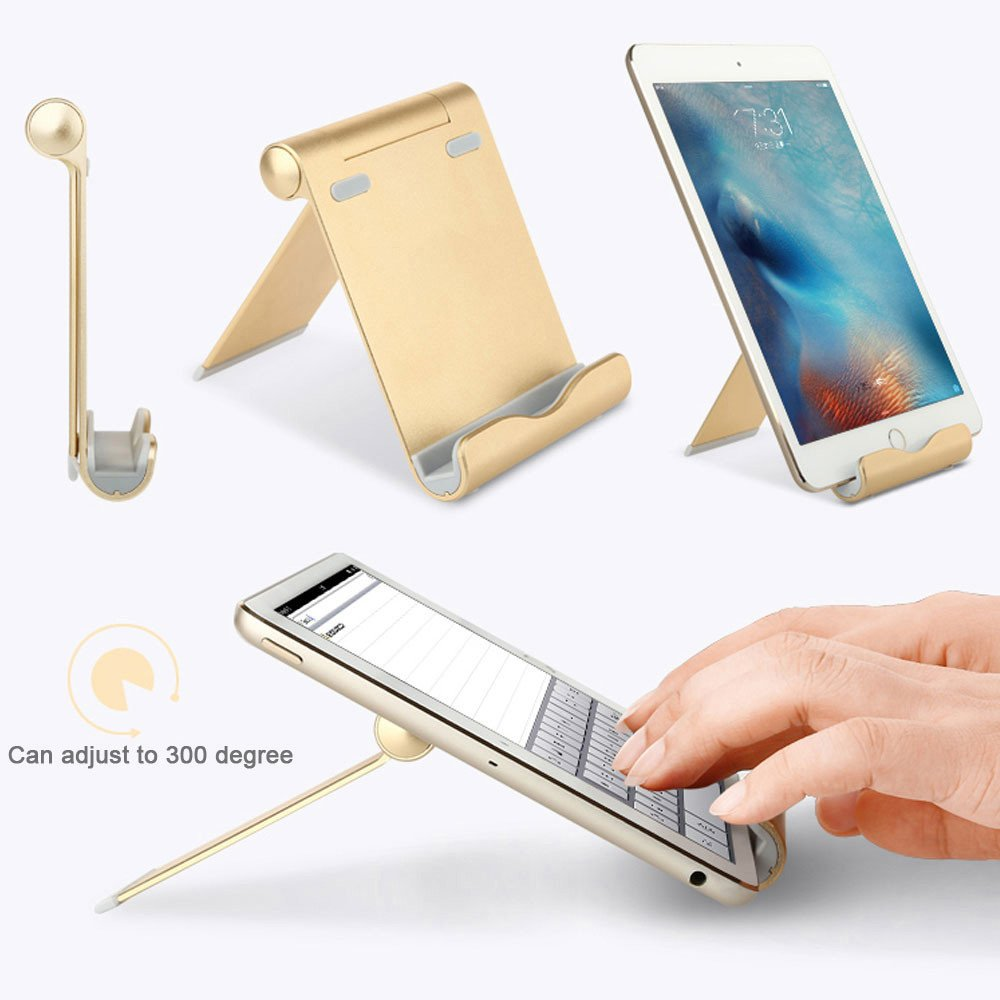 Insaneness☞☞☞ Adjustable Aluminum Alloy Holder Stand Dock for iPad Pro 12.9/9.7inch Tablet GDfor iPhone X/XS/XS MAX,iPhone 7/7Plus/8/8 Plus, Samsung Galaxy S9 /S9+ /S8 /S8+/ S7/Note 8/Note9 by SHUDAGE (Image #3)
