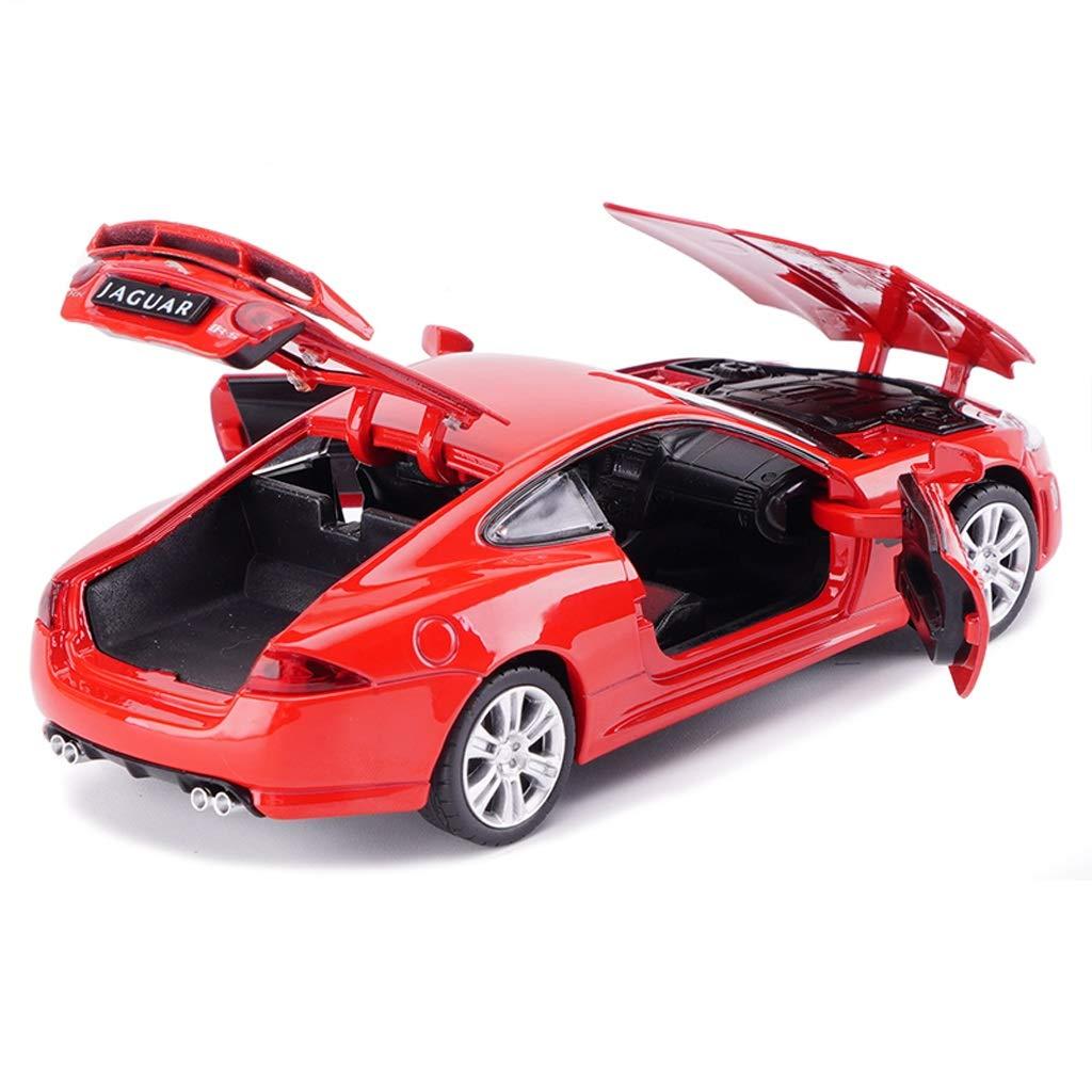 JIANPING Auto Modell Auto 1:32 Jaguar XKR-S Simulation Legierung Druckguss Spielzeug Schmuck Sportwagen Sammlung Schmuck 15x5,5x3,5 CM Modellauto