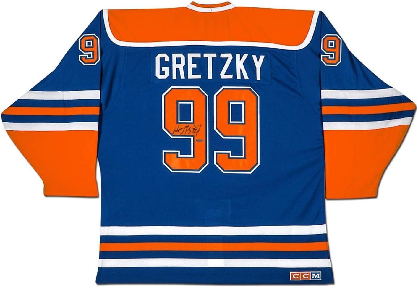 Wayne Gretzky Autographed Blue CCM Edmonton Oilers Jersey - WGA ...