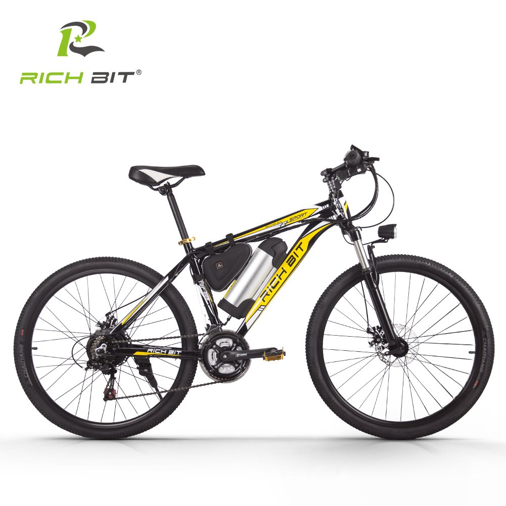 電動アシスト自転車 MTBマウンテンバイク シマノ社製21段変速搭載 軽量ダイヤモンドフレーム 軽量LGリチウムバッテリー B079BNT6WS イエロー イエロー