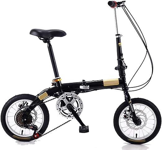Kiyte Bicicleta Plegable Ligera, Bicicleta de Ciudad con Freno de ...