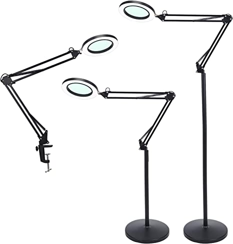 3 Pack Black, 8 Diopter Electrix Task and Machine Light Magnifier Lens 3 Inch Wide