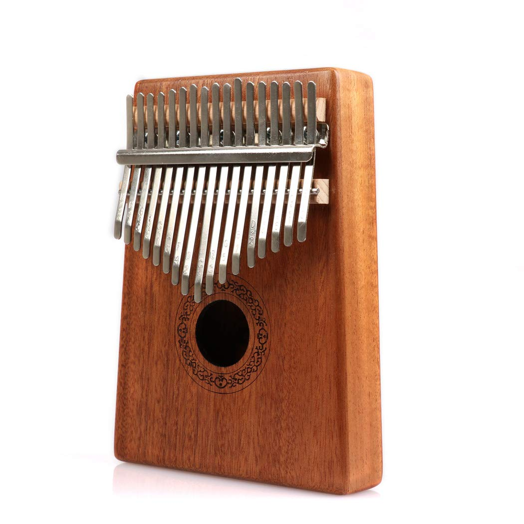 Hidear Thumb Piano Kalimba 17 keys Finger Piano Mbira 17 Tone Musical Toys with Instruction and Tune Hammer, Portable Thumb Piano Mahogany Body Ore Metal Tines by Hidear (Image #1)