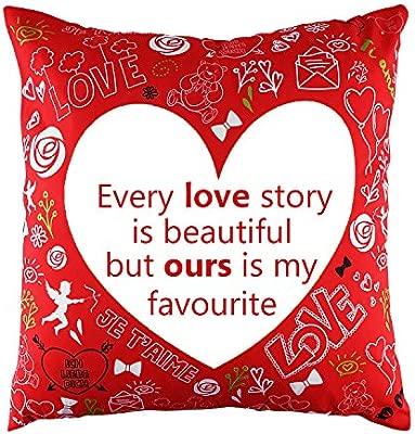 """regalo romantico... Cuscino a forma di cuore rosso con la scritta /""""I love you/"""""""