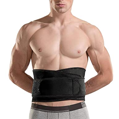 3d6a0ee119 Waist Trimmer Weight Loss Ab Belt Adjustable Stomach Fat Burner Wrap and Waist  Trainer size M