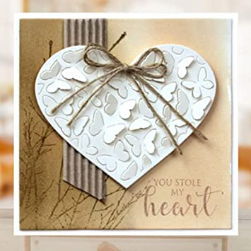 New Design Craft Metal Cutting Dies Love Heart Folding Envelope Scrapbooking Alb