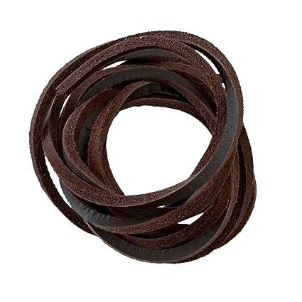 3d84fb203d885 1 PCS of 1/8 Rawhide Leather Shoelaces Shoe Boot Laces Shoestrings Cord  (Brown, 160cm)