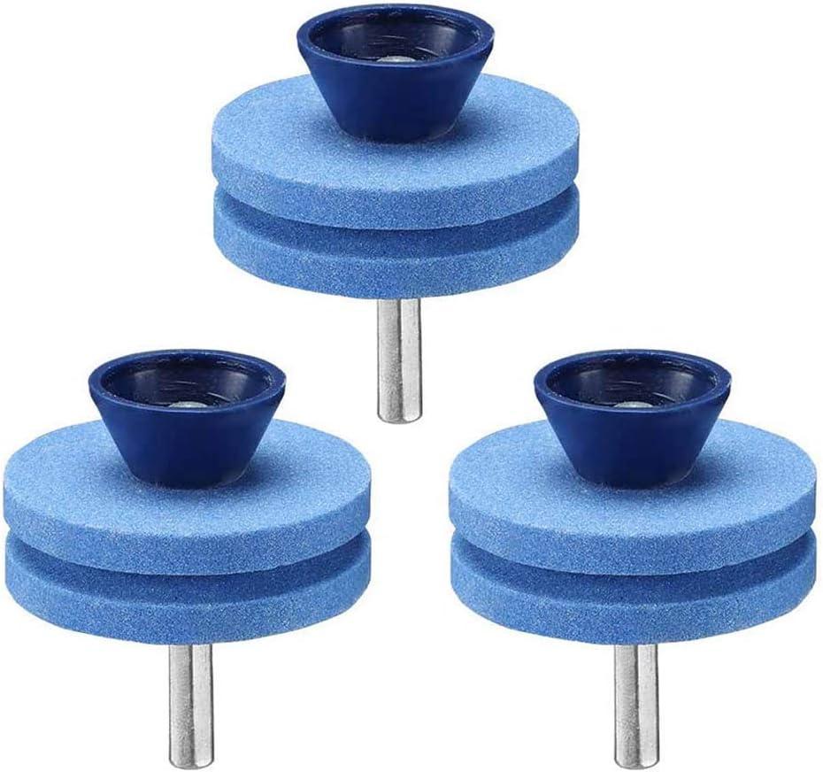 WANGSUN - Afiladores de cortacésped de doble capa para corindón, corindón de doble capa, universal, piedra de molienda para taladro eléctrico de mano y herramienta de equilibrado