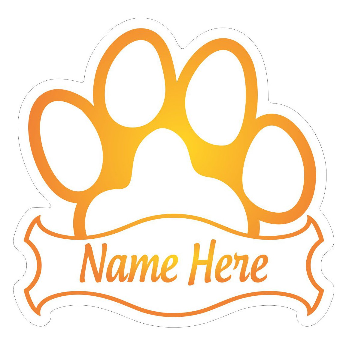 Amazon com az house of graphics custom cat paw sticker many colors personalized name vinyl decal memorial paw car truck window pet orange automotive