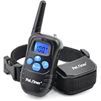 Petrainer PET998DRB1 Dog Training Collar Rechargeable and Rainproof 330 yd Remote Dog Shock Collar with Beep, Vibra and Shock Electronic Collar
