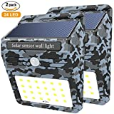 Image of 24 LED Solar Light, Soft Digits Camouflage Style Waterproof Solar Powered Motion Sensor Light, Wireless Led Security Lights Outdoor Wall Light for Driveway Patio Garden Path, 2 Pack