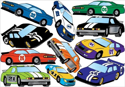 Car Wall Graphic - Stock Car Wall Stickers Decals / Race Car Wall Decor Graphics