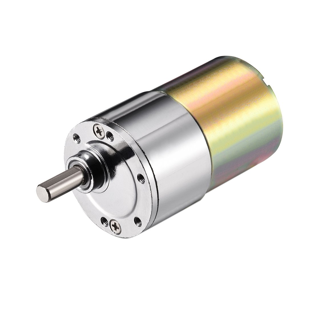 sourcingmap® DC 12V 40RPM Micro Gear Box Motor Speed Reduction Electric Gearbox Eccentric Output Shaft SYNCE012510