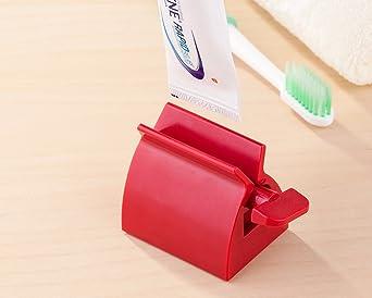 FLZONE 2 juegos Dispensador de Exprimidor de Tubo de Pasta de Dientes 3 colores, tres tama/ños por juego Herramienta Exprimidoras para Pasta de Dientes Clips de Pasta de Dientes de Pl/ástico