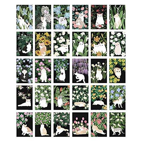 30PCS 1 Set Creative Postcards Artistic Beautiful Postcards, Cats (Old Christmas Postcards)
