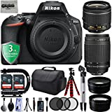 "Nikon D5600 24.2MP 1080P DSLR Camera w/ 3.2"" LCD - Wi-Fi & GPS Ready + 4 Lens - 18 to 300mm - 64GB - 20PC Kit - Nikon 18-55VR - Nikon 70-300G - Opteka 2.2x Tele - Opteka 0.43x Wide + 3YR Warranty"
