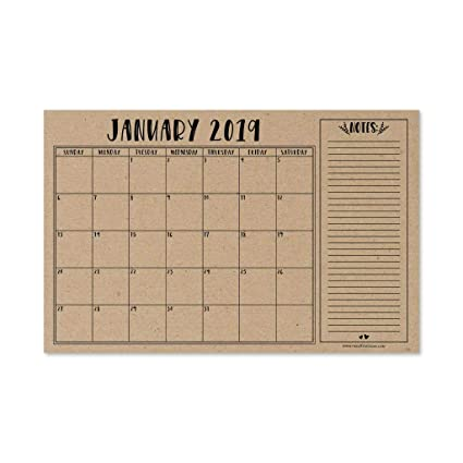 Amazon Com Rustic 2019 2020 Large Monthly Desk Or Wall Calendar