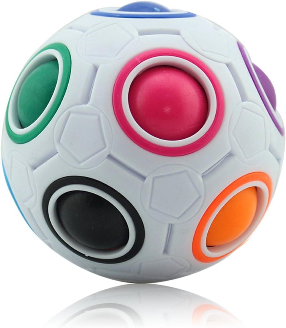Coolzon Magic Ball Puzzle Cube Pop Rainbow Magico Cubo Fidget Juguetes Anti Estrés para Niños Adultos Educación