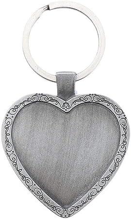 //Sliver//Black Heart Charm Pendant Keychain Bag Keyring Key Chain