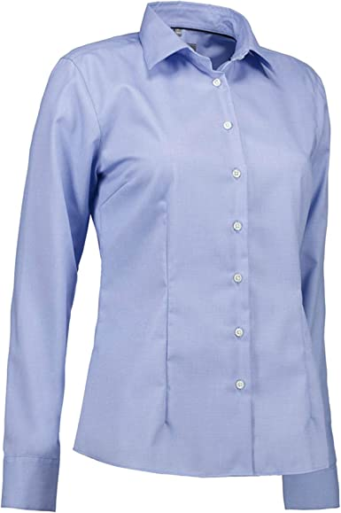 ID - Camisa Modelo Dobby Royal Oxford de Talle Moderno para Mujer señora: Amazon.es: Ropa y accesorios