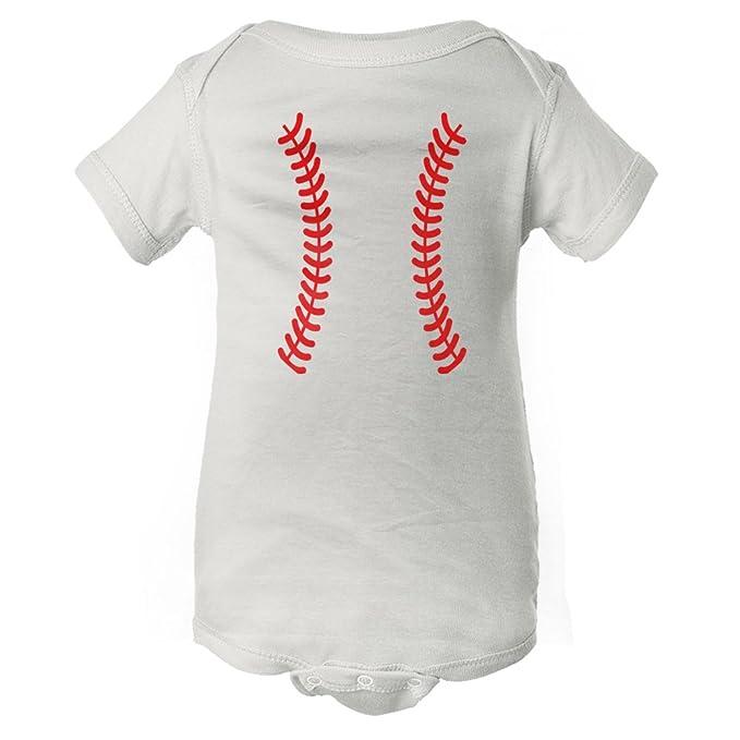 de87cb82e Amazon.com  InkThread Baseball Laces - Funny Sports Baby Onesie ...