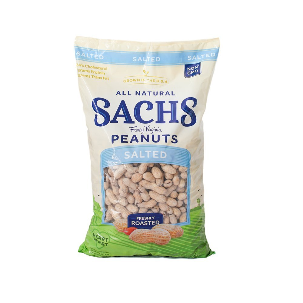 Sachs Delicious Roasted / Salted in Shell Peanuts 5lb by Sachs (Image #1)