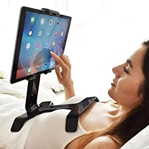 """TSTAND Tablet Stand - Holder for Bed - Multi-Use, Universal - Compatible with all iPad models 7""""-10.5"""" and Nintendo Switch - Black"""