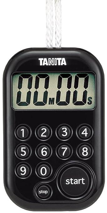 タニタ デジタルタイマー100分計 ブラック TD-379-BK