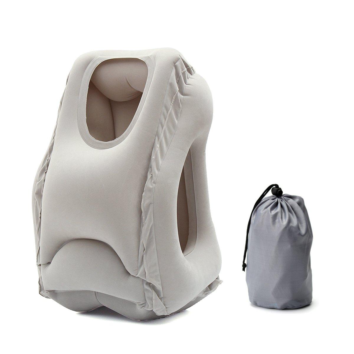 Baban Almohada de Viaje Almohada Inflable Almohada Plegable Con una bolsa de