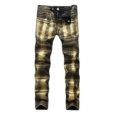 1b2a71782e434b Männer Nner Jeanshose Mittlere Taille Straight Slim Stretch Motorrad Jeans  Freizeithose Classic Vintage Denim Hosen Jungs