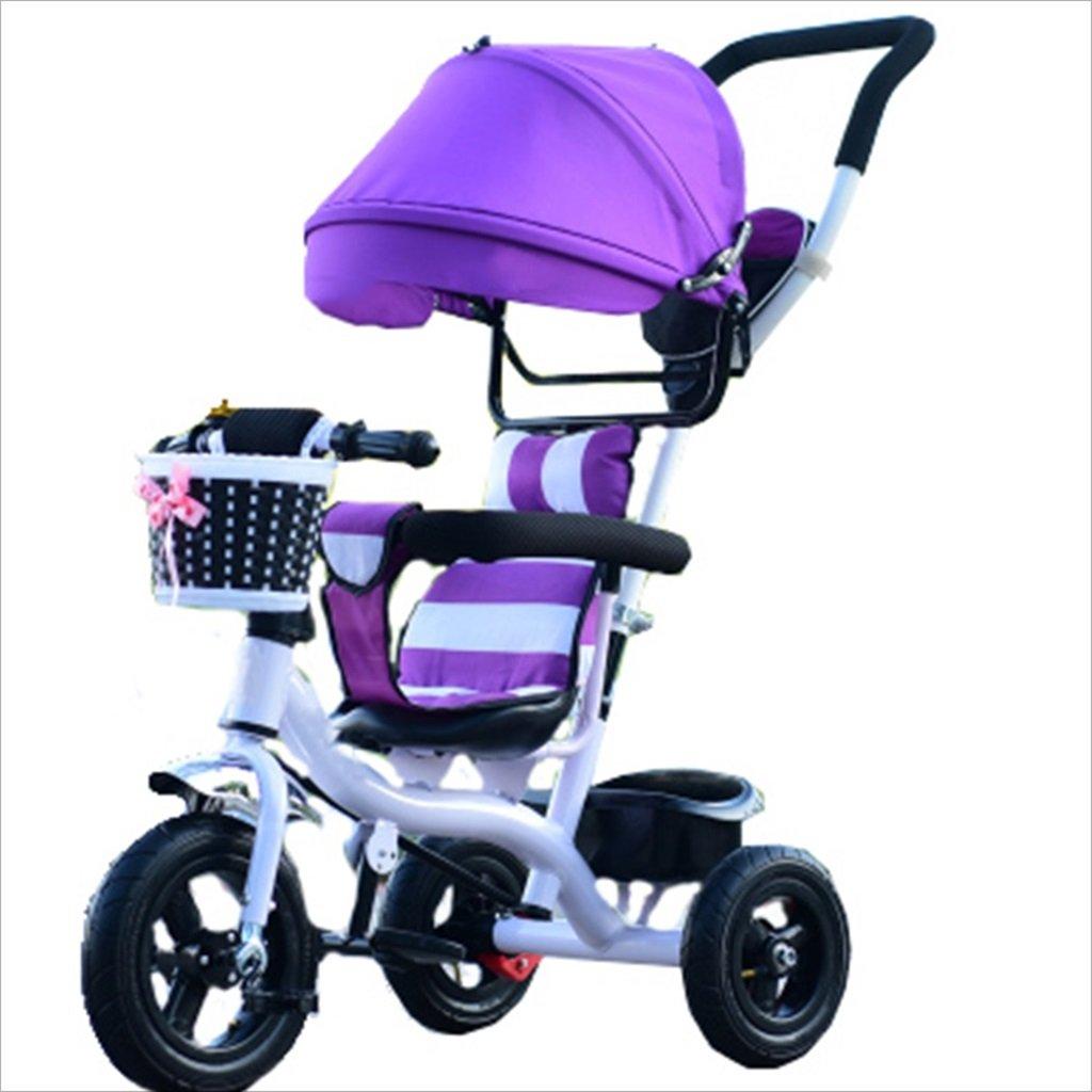 子供屋内屋外の小型三輪車自転車の男の子の自転車ガールズバイク7ヶ月-6歳の赤ちゃん三輪車トロニック、日除け付き、固体ゴムタイヤ/後輪二重ブレーキ (色 : 6) B07DVJGFHK 6 6