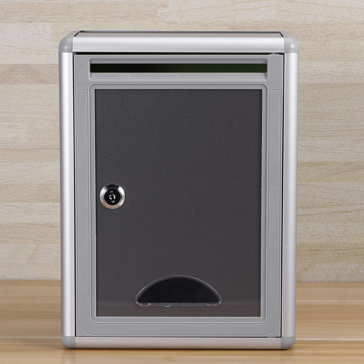 YeahiBaby Small Suggestion Box Mailbox with Lock Wall Hanging Complaint Suggestion Box Aluminium Alloy Box