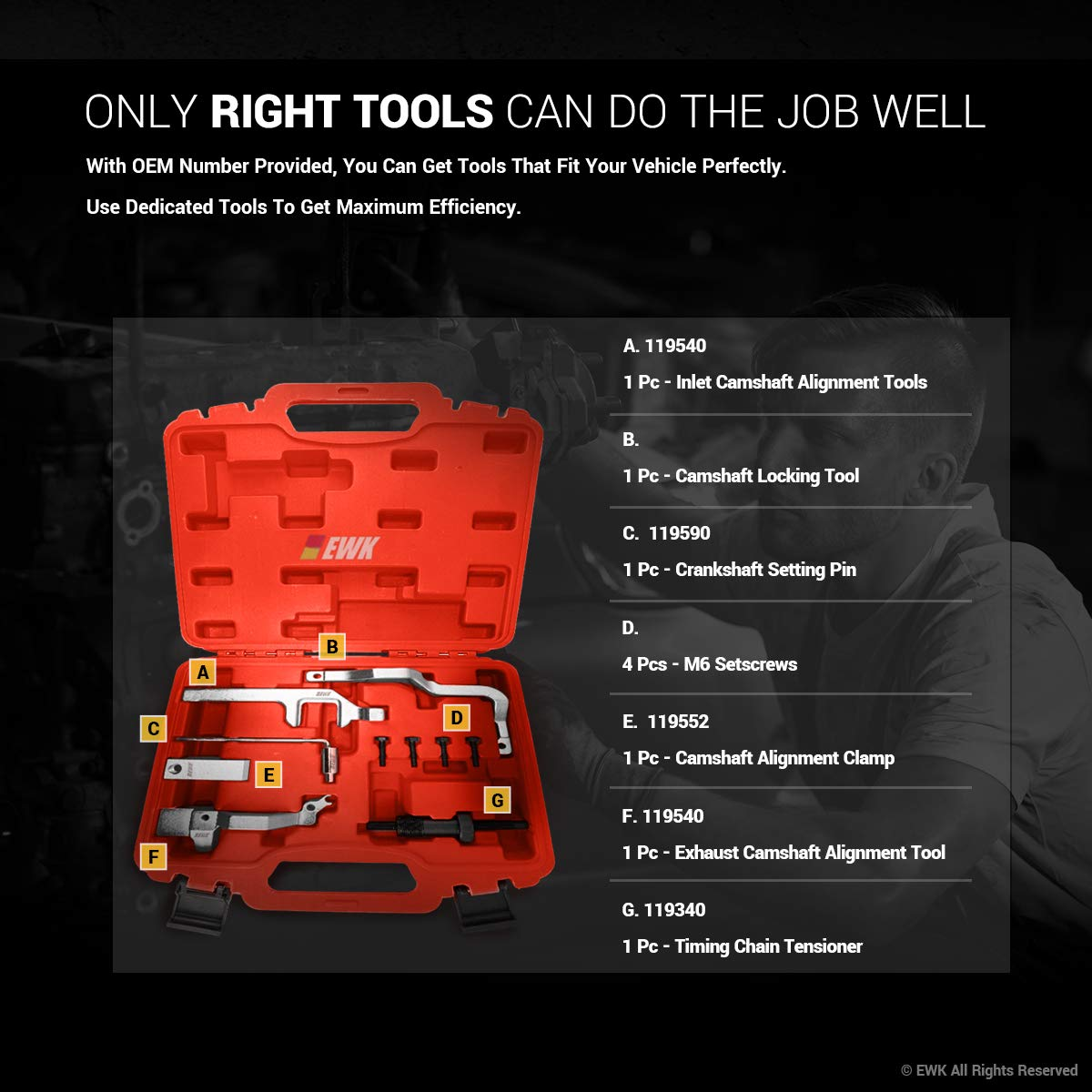 EWK Special Engine Timing Tool Kit for Mini Cooper N12 N14 R55 R56 by EWK (Image #4)