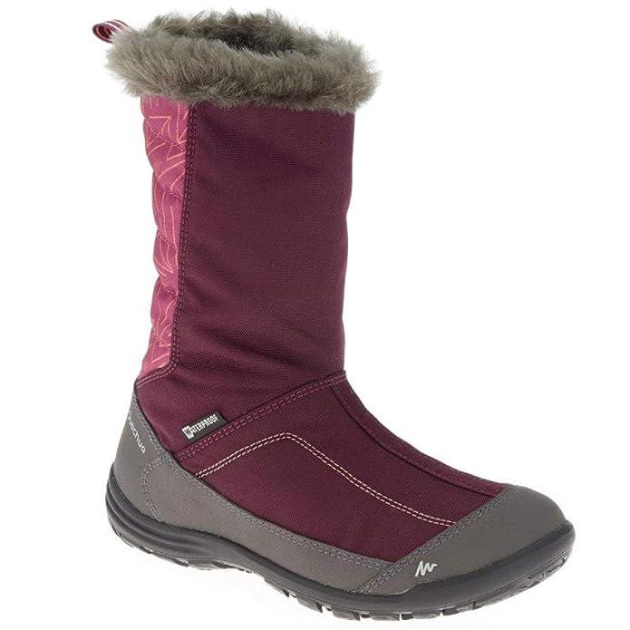 QUECHUA - Zapatillas de Senderismo de Caucho para niña, Color Morado, Talla 34 EU: Amazon.es: Zapatos y complementos