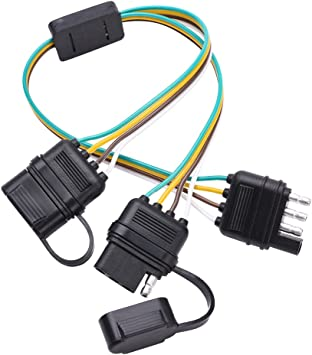 [SCHEMATICS_43NM]  Amazon.com: MICTUNING Universal 4 Way Flat Y-Splitter Plug and Play Adapter  Extension Harness for LED Tailgate Light Bar and Trailer Lights: Automotive | Four Wire Harness Adapter |  | Amazon.com