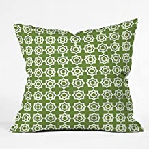 DENY Designs Khristian A Howell Moroccan Mirage Green Throw Pillow, 18 x 18