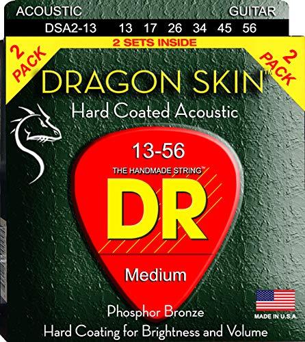 DR Strings DRAGON SKIN Acoustic Guitar Strings (DSA-2/13)