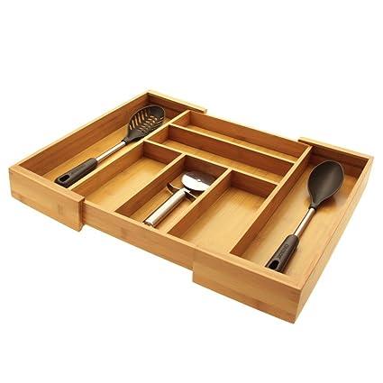 Organizador de Cajones Extensible, Bandeja de Cajón de Cocina, para Cubiertos 33 - 56.5