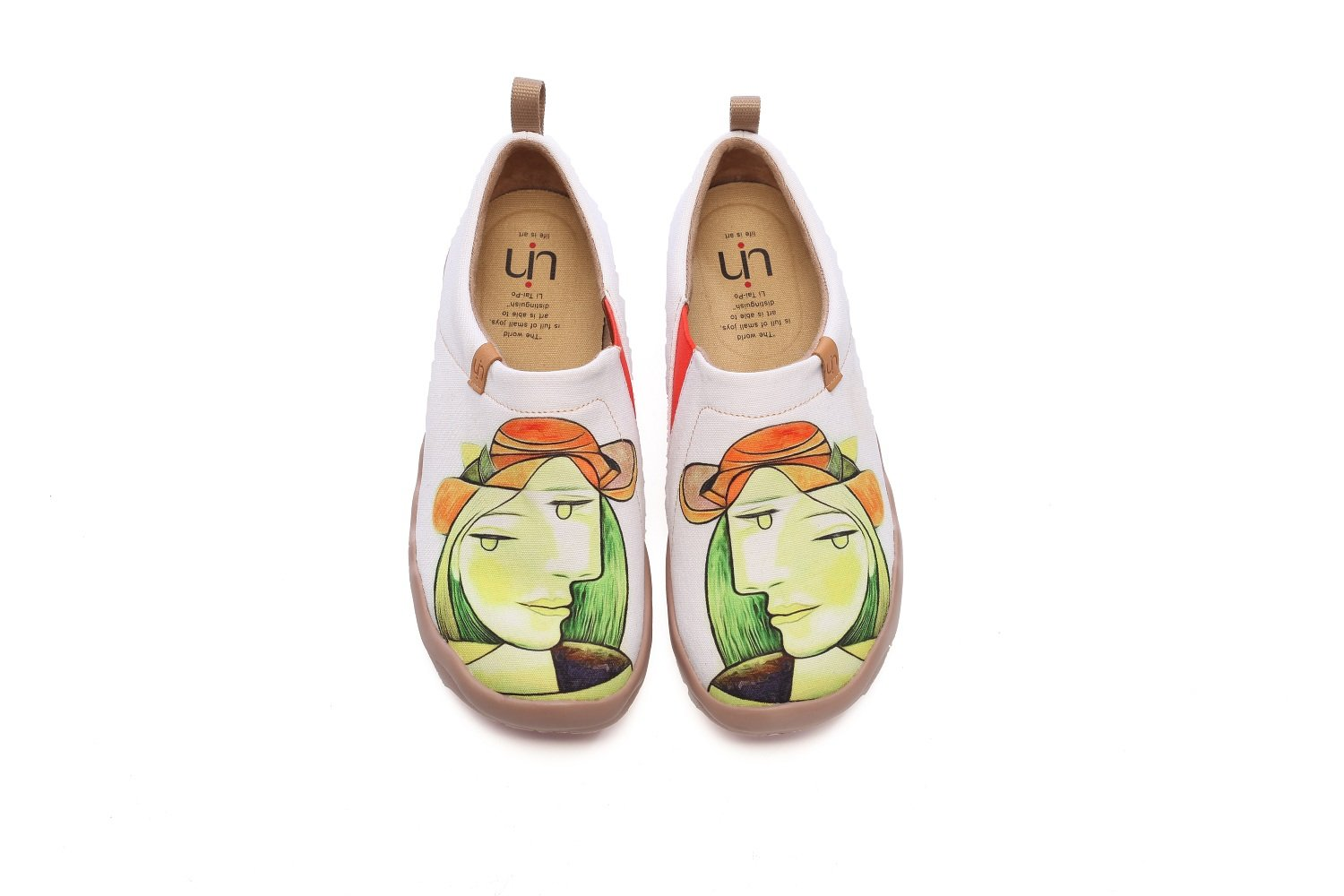 UIN Women's Anna Painted Canvas Slip-On Shoes Fashion Travel Shoes