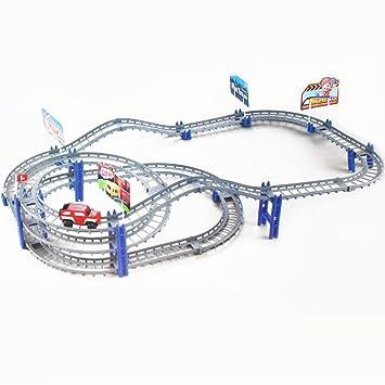 fajiabao racing car track bridge flexible track toys set best birthday presents for kids boys girls