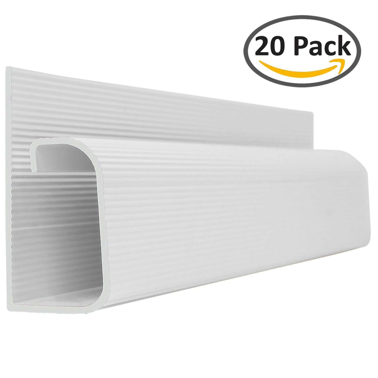 J Channel Cable Raceway - White - 48'' Length - 20 Pack