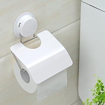 ZfgG Creativo Ventosa Papel Toalla de Papel Higiénico Caja de Baño ...