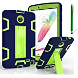 """LG G Pad 2 8.0 Case, LG G Pad F 8.0 Cover, Kuteck Defender Armor Hybrid Case Full Body Cover with Stand For LG G PAD 2 8.0"""" / G PAD F 8.0"""" Inch V495 V498 + Stylus Pen (Navy Blue/Green)"""