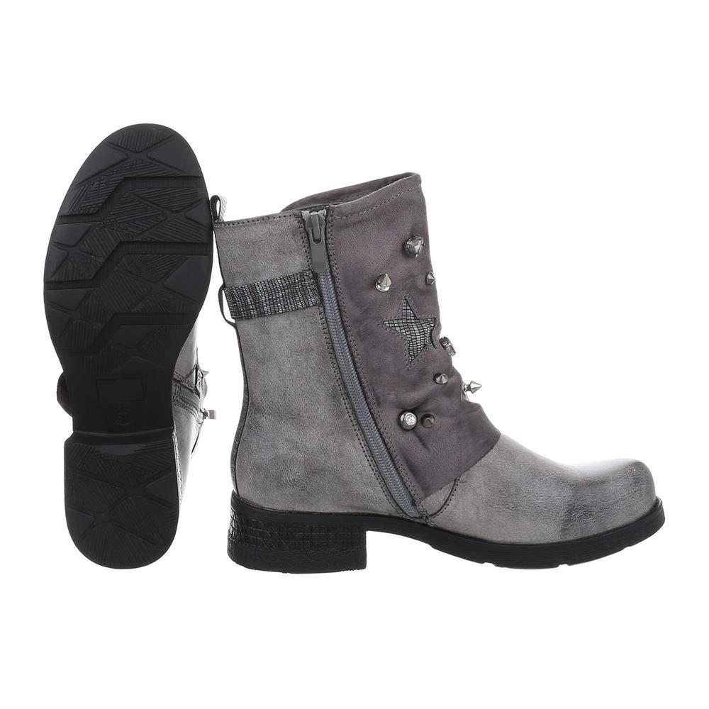Damen Schuhe Stiefeletten Stiefeletten Schuhe Blockabsatz EUR 36-EUR 41 3bc3d0